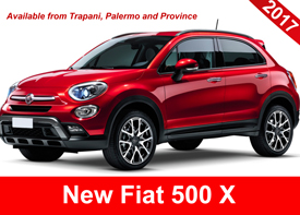 rent a new fiat 500 from  trapani, palermo and province